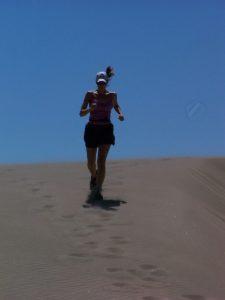 Lorraine running the dunes