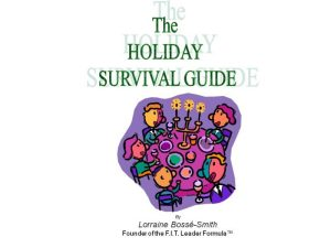 Take back the holidays with this helpful booklet