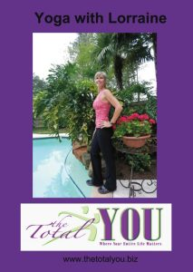 Lorraine teachs Hatha yoga on her DVD