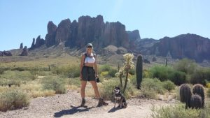 Kuma goes in search of gold at the Superstition Mtns