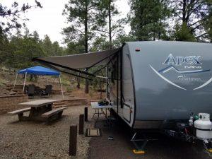 Kuma's camp is all set