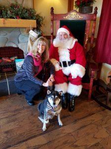 Kuma and his Mom with Santa