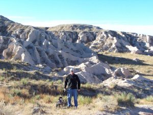 Kuma and his dad at Pawnee Buttes