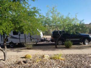 Kuma's camper ready to go
