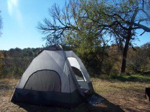 Camping at Enchanted Rock in Texas