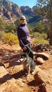 Kuma and his mom hiking