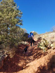Hiking Brin's Mesa trail