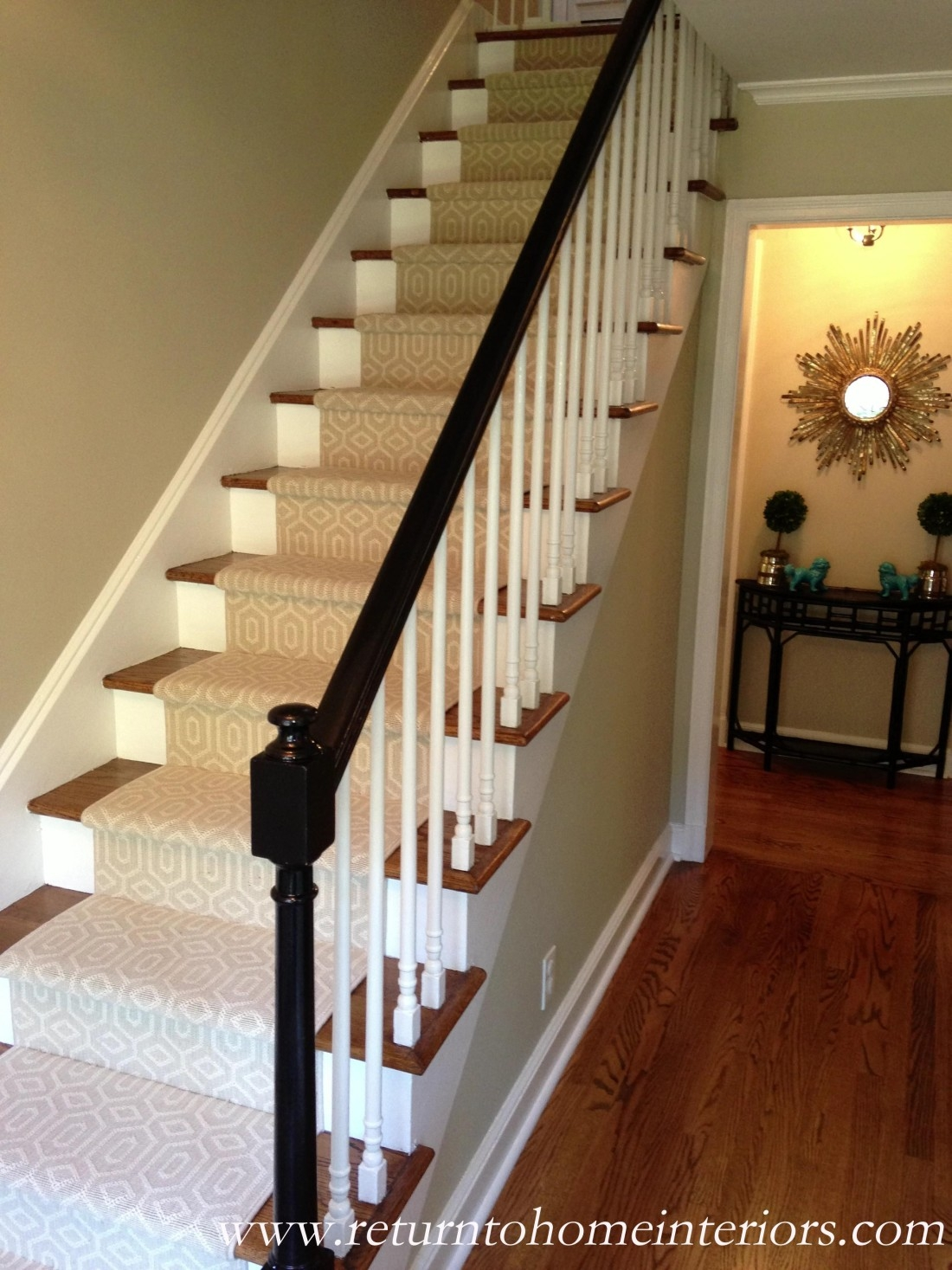 Choosing A Stair Runner Some Inspiration And Lessons Learned | Carpet And Hardwood Stairs | Wooden | Before And After | Wall To Wall Carpet | Grey | Design