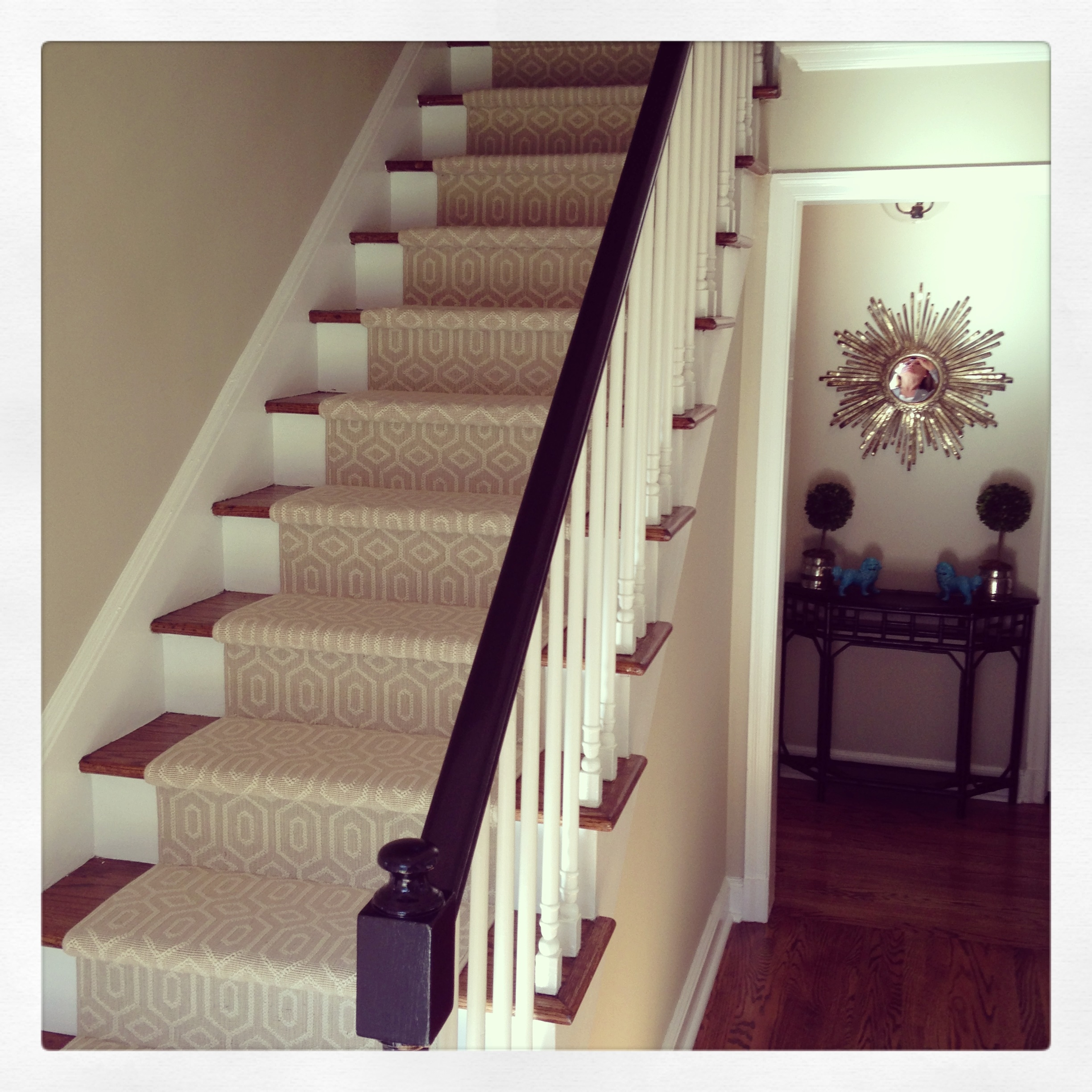 Choosing A Stair Runner Some Inspiration And Lessons Learned | Small Rugs For Stairs | Area Rug | Stair Tread | Wood | Stair Rods | Stair Case