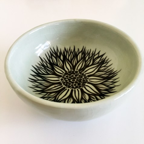 Check our curated gift guides Green and Black Ceramic Flower Bowl