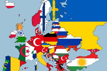 Europa según el grupo de ciudadanos extranjeros más numeroso en cada país