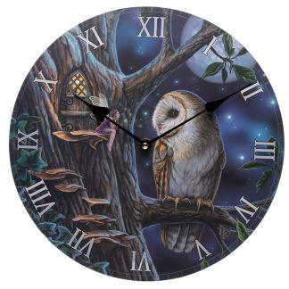 """Reloj """"Búho y Hada"""""""