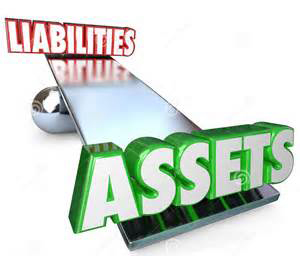 Seesaw With Liabilities And Assets