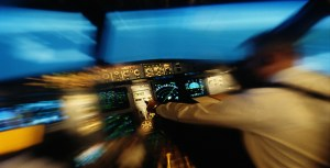 Blurred Out Picture Of Pilot And Speed