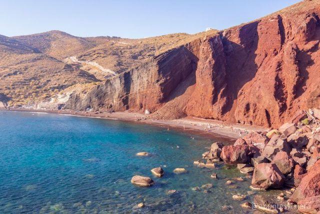 Red Beach - Santorini - Viaje islas griegas