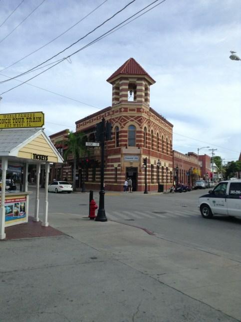 Edificio en la calle Duval en Key West