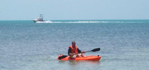 Kayak en Playa de Key Largo