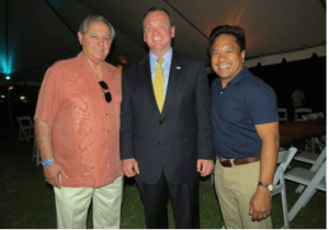 San Olivito , Executive Director of CCCA, stands with LAC Sheriff's Candidate  Jim McDonnell and Artesia Councilman  and President of the CCCA Victor Manalo