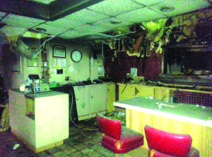 The kitchen of the Carriage House. Fire destroyed the iconic eatery early Wednesday morning.