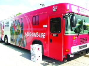 Red cross blood mobile