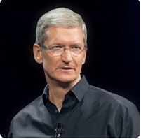 CEO Tim Cook. Twitter picture.