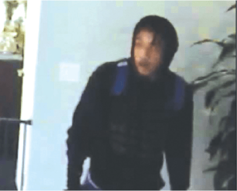 Security camera picture of robber who stole thousands of dollars in property from a house near Jacob and Bertha in Cerritos. Anyone with any information is urged to call the Cerritos Sheriff's station at (562) 860-0044.
