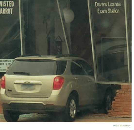 Teenager Crashes Into Exam Building During Driving Test in
