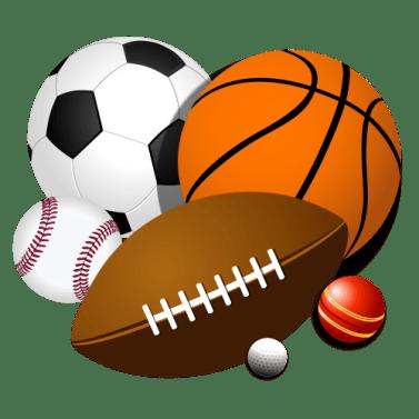 sports collage balls