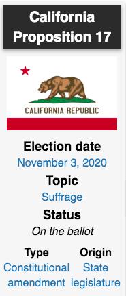 California Proposition 17