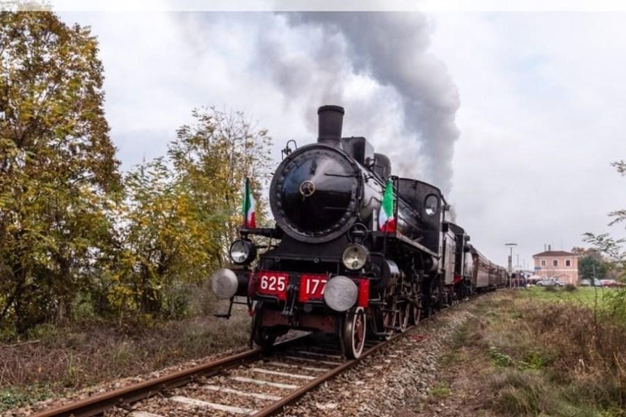 In treno a vapore da Torino a Calamandrana