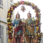 A Santena la festa dei Santi Martiri Cosma e Damiano
