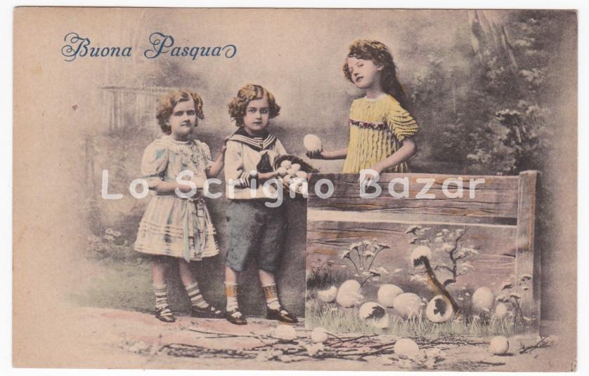 Formato Piccolo Cartolina Depoca PTL Auguri Di Pasqua