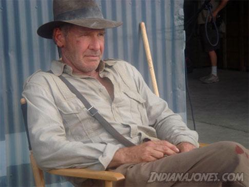 Harrison Ford en el rodaje de la cuarta entrega de 'Indiana Jones'