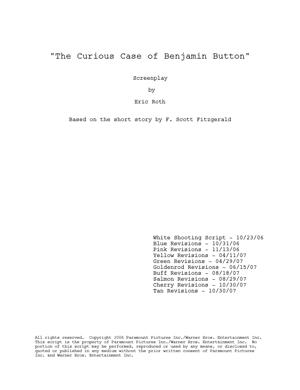 'El curioso caso de Benjamin Button'