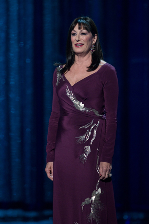 Anjelica Huston, la semana pasada en los Oscar