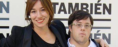 Lola Dueñas y Pablo Pineda en la presentación de 'Yo, también' en Madrid