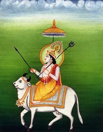 Dios Shivá sobre el toro Nandi