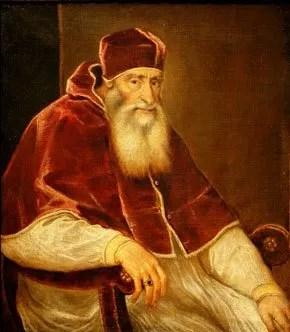 El Papa Paulo III, de Tiziano