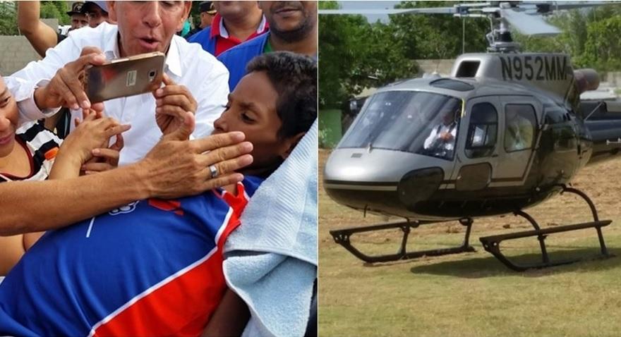 Soñaba subir a un Helicóptero