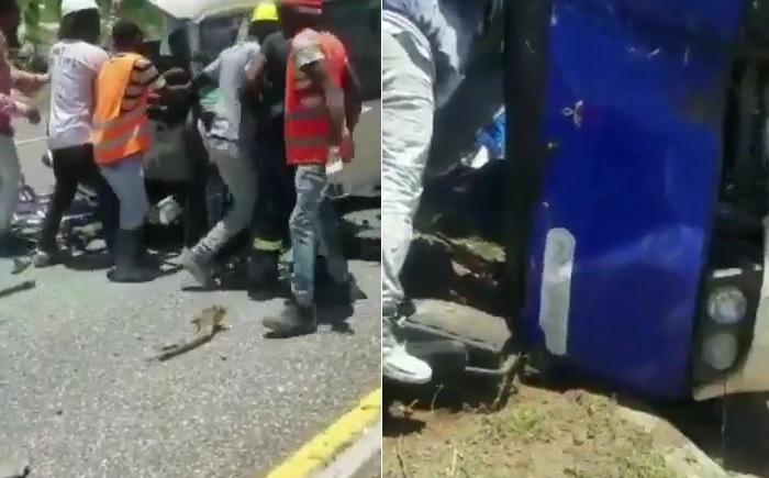 Tras choque de dos autobuses