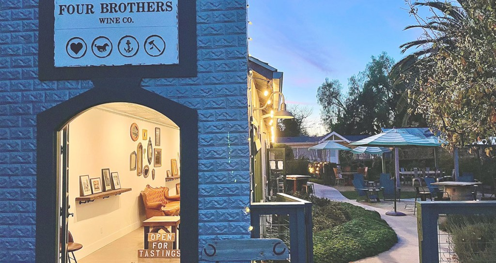 Four Brothers Wine Co - wine tasting room in Los Olivos, CA