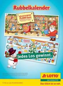 Rubbelkalender Werbung