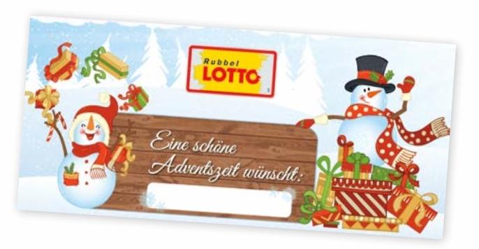 Rubbellotto-Adventskalender Rheinland Pfalz 2018