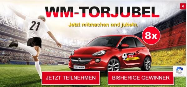 WM-Torjubel Gewinnspiel