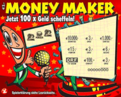 Money Maker Rubbellos Frontansicht
