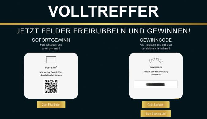 Galeria Kaufhof Volltreffer Online Rubbellos