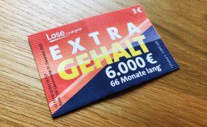 Extra Gehalt Brieflos von Lotto Bayern - Vorderseite