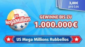 Mega Millions Rubbellos von Lottoland