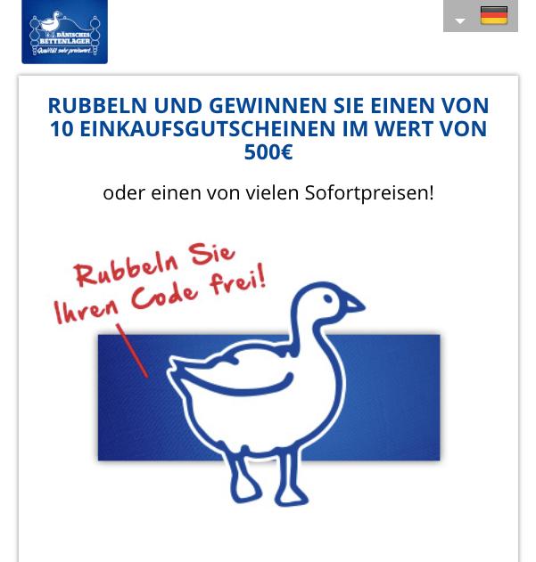 Online Rubbellos Rubbeln & Gewinnen Dänisches Bettenlager