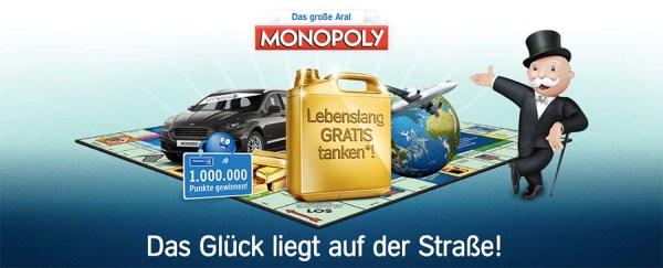 ARAL Monopoly Gewinnspiel